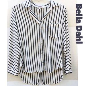 Bella Dahl Striped Metallic Button Up Top